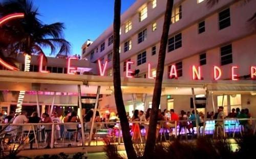 Clevelander Hotel Night