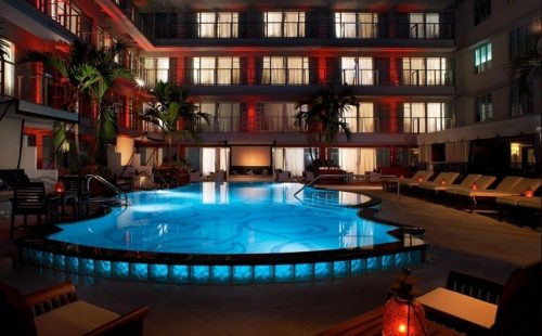 Hotel Victor Pool At Night