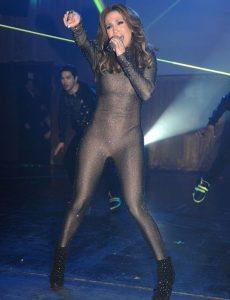 Jennifer Lopez in catsuit at Liv Nightclub