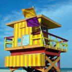 Colorful Lifeguard Stations Of Miami Beach